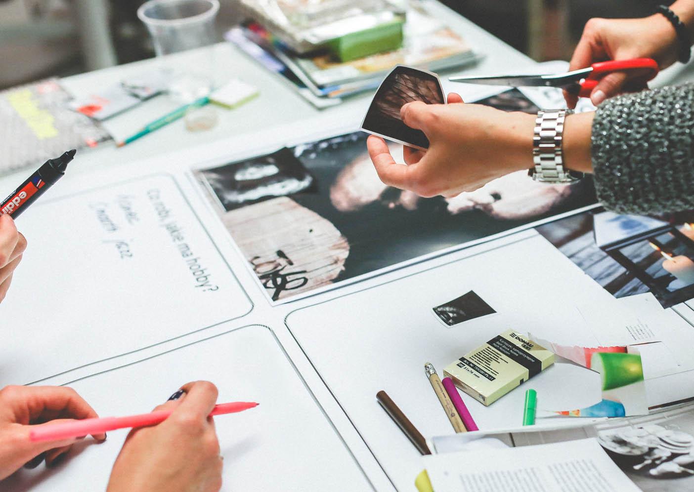 Design Process: Team working through the Design Process