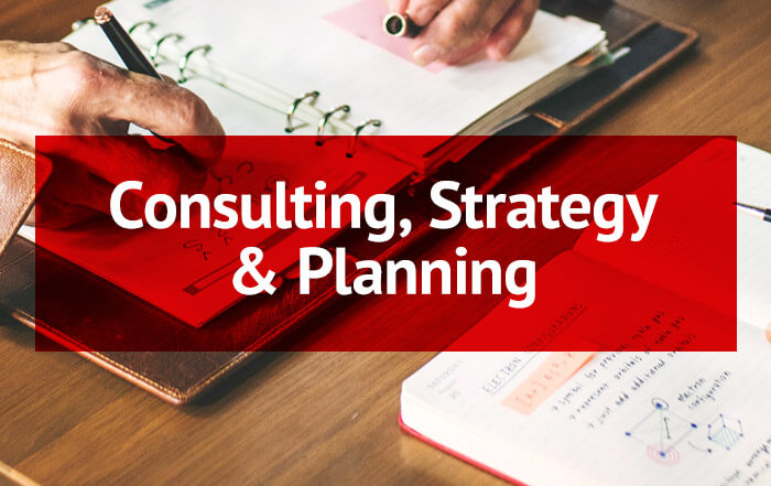 Consulting, Strategy & Planning Button (Rollover)