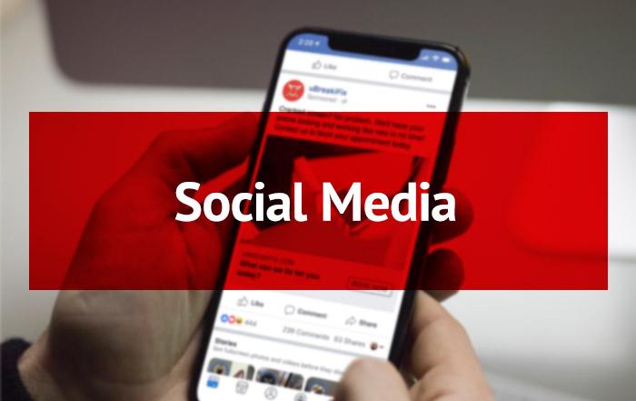 Social Media Button (Rollover)